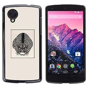 Be Good Phone Accessory // Dura Cáscara cubierta Protectora Caso Carcasa Funda de Protección para LG Google Nexus 5 D820 D821 // Cute House Cat Kitten Poster Black