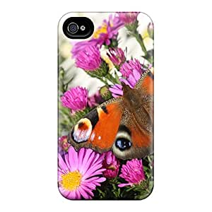 New Arrival Premium 4/4s Case Cover For Iphone (peacock Butterfly)