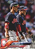 2018 Topps Update and Highlights Baseball Series #US199 All Smiles Francisco Lindor Jose Ramirez Cleveland Indians Official MLB Trading Card