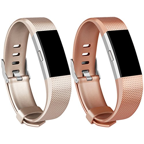 Amzpas Fitbit Charge 2 Bands, 3 Pack, Small Large Adjustable Replacement Accessory Wristbands Bracelet for Women & Men