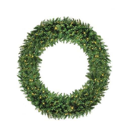 Northlight 5' Pre-Lit Buffalo Fir Commercial Artificial Christmas Wreath - Warm White LED Lights by Northlight