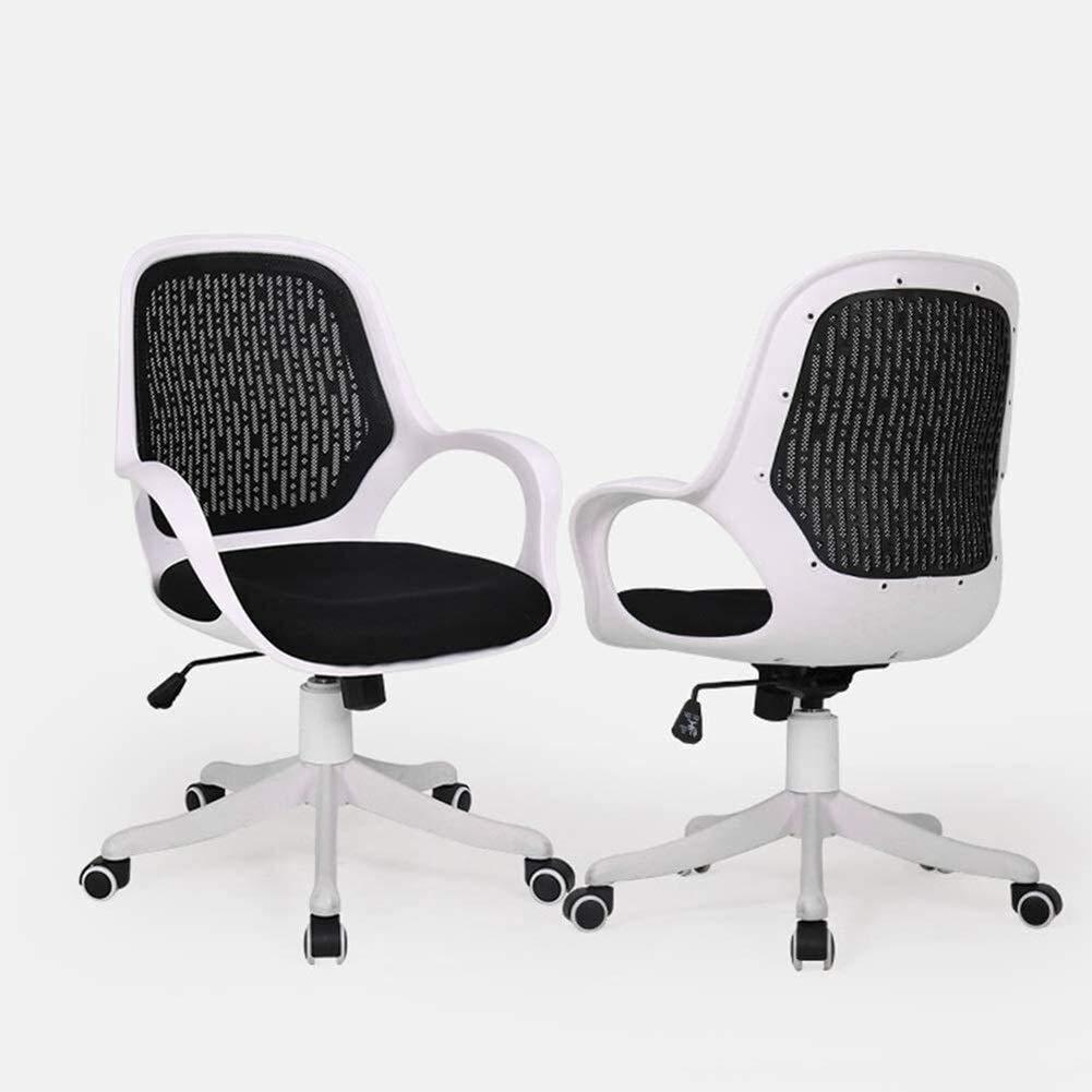 HLR kontorsstol skrivbordsstol svängbar stol, nätväv ett stycke ryggstöd datorstol, arbetsrum ergonomisk stol, kontorsstol (färg: grå) Grått
