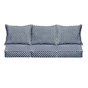 Azul marino M para interiores/al aire libre–Sofá Cojín Set