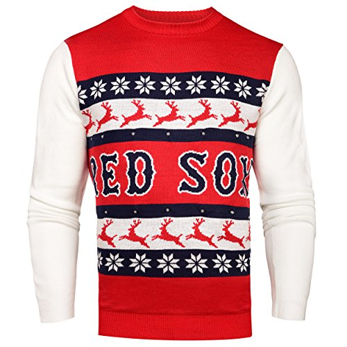 MLB Boston Red Sox Light-Up One Too Many Ugly Sweater, X-Large