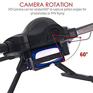 HOLIDAY SPECIAL! Contixo F6 RC Quadcopter Racing Drone 2.4Ghz W/ 720P Rotating HD Camera, FPV Live Feed, Headless, 3 Batteries Included, Mobile App, Hover, VR Ready - Best Gift For Christmas from Contixo