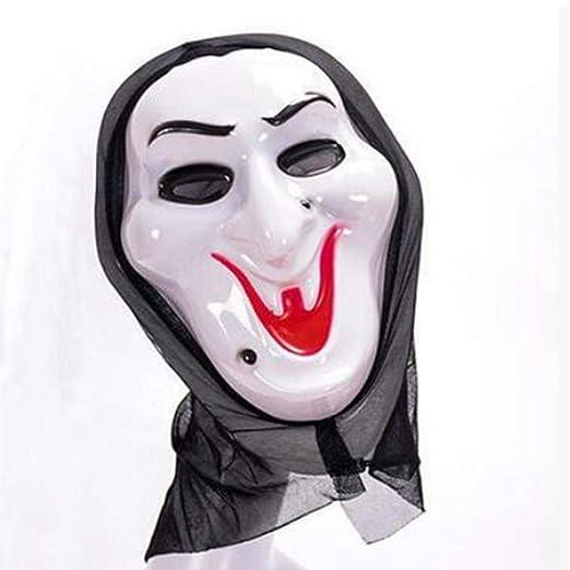 MumuXiDy Mueca Máscara de Miedo de Halloween Disfraz de Cosplay ...