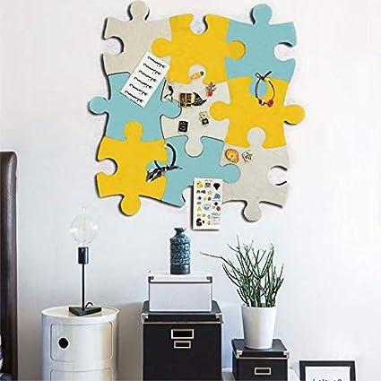 etc. notes objectifs photos Tableau daffichage mural en feutre en li/ège m/émos photos dessins 1 pi/èce en forme de puzzle avec autocollant pour garder vos souvenirs