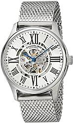 Stuhrling Original Men's 747M.01 Atrium Elite Automatic Skeleton Stainless Steel Watch with Mesh Band