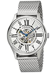 Stuhrling Original Men's 747M.01 Atrium Elite Automatic Skeleton Mesh Stainless Steel Watch