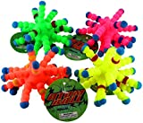 Atom Balls 4-pack, Tactile Fidget Stress Relief, 4 Colors Included: Green, Yellow, Orange and Magenta
