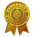 "Great Papers! Starburst Ribbon Embossed and Gold Foil Certificate Seal, 1.75"", 48 Count (903418)"