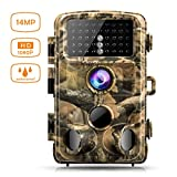 Campark Trail Game Camera 14MP 1080P Waterproof Hunting Scouting Cam for Wildlife Monitoring with 120°Detecting Range Motion Activated Night Vision 2.4'' LCD IR LEDs