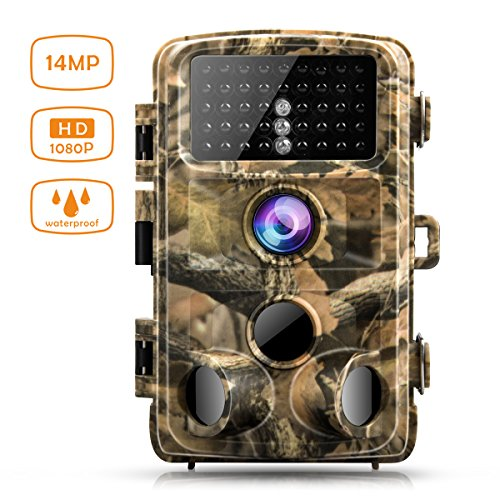 Campark Trail Game Camera 14MP 1080P Waterproof Hunting Scouting Cam for Wildlife Monitoring with 120Detecting Range Night Vision 2.4 LCD IR LEDs
