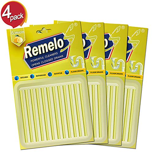 (Drain Cleaner Sticks, Drain Cleaner & Deodorizer Sticks As Seen on TV. Keep Kitchen Bathroom and Utility Drains Clear, Non-Toxic, 48 Pack (Lemon))