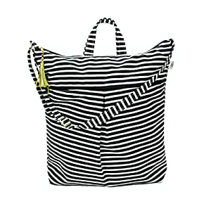 Waterproof Daytripper Tote - Waterproof Diaper Bag with Dry Pocket, Cloth Diaper Wet Dry Bag, Large Hanging Bag - Swimsuits + Travel, Diapering + Feeding On-the-Go - Made in USA (Audrey Stripe)