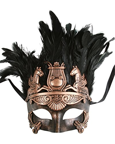 KAYSO INC The Spartacus Men's Roman Gladiator Masquerade Mask (Vintage Bronze)