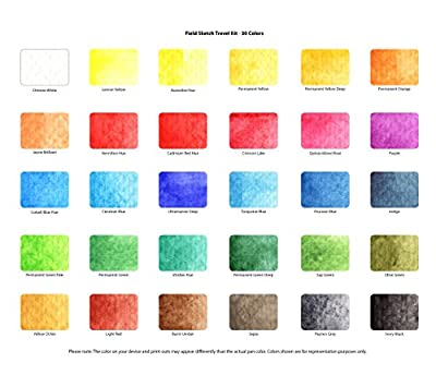 Sakura Koi Watercolor Field 36 Color Sketch Set