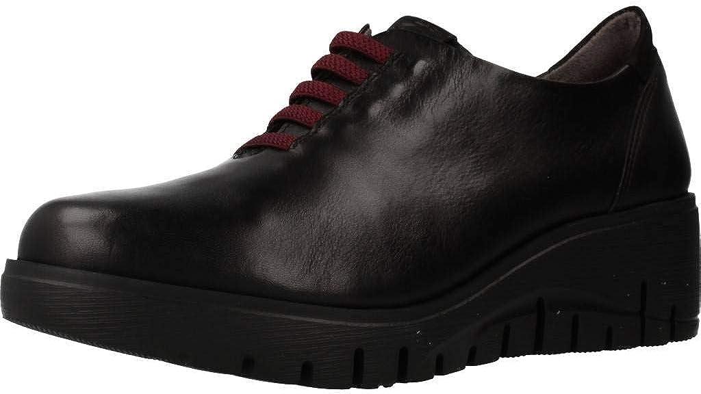 Fluchos | Zapato de Mujer | Manny F0698 Sugar Burdeos Zapato | Zapato de Piel de Vacuno de Primera Calidad | Cierre con Elásticos | Piso EVA