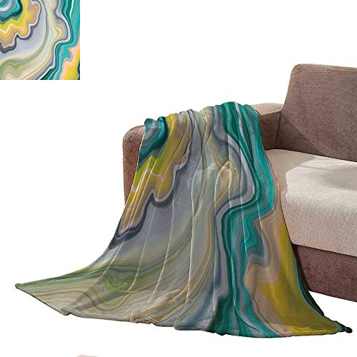 Anniutwo Office Blanket Abstract Marbled Background Decorative Painted Texture Liquid Paint marbling Effect Agate Macro Lines Wallpaper Blankets Queen Size L60 xW35