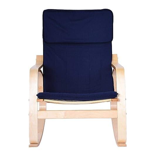 Wosume Cómoda Silla Relajante, sillón Relax de Madera de ...