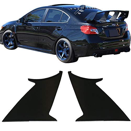 2PC Wing Stabilizer Fits 2015-2018 Subaru WRX STI | ABS Unpainted Trunk Boot Lip Spoiler Wing & 3M Tape Add On By IKON MOTORSPORTS | 2016