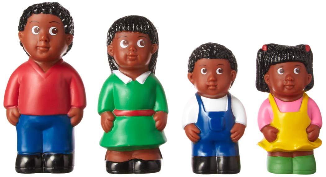 Get Ready Kids 5 African American Family Figures Set of 4 626
