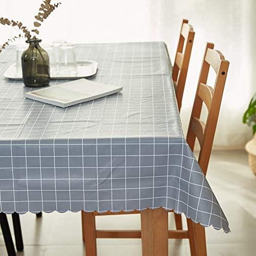 Zller2587 PVC Impermeable, Anti-Aceite y Anti-escaldado, celosía Simple, Mantel doméstico Rectangular, Mantel de plástico, paño de Cubierta 65x65cm A Cuadros Grises: Amazon.es: Jardín