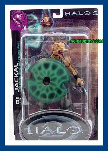 Halo 2 Series 8 Jackal Figure with Blue Shield