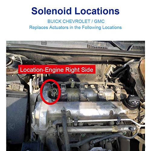 WMPHE Intake & Exhaust Camshaft Position Actuator Solenoid Valve Kit  Replaces# 12655421, 12655420 For Chevy Cobalt, HHR, Malibu, Equinox, GMC  Terrain,