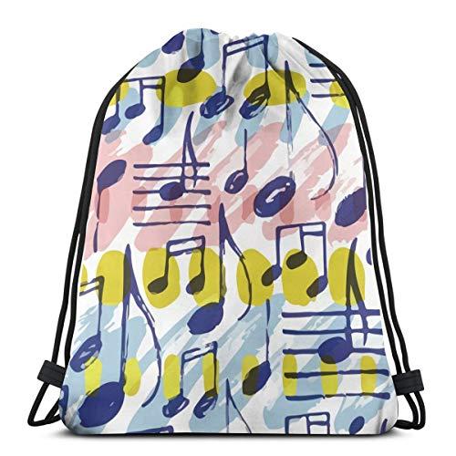 Colorful Note Piano Music Drawstring Bag Backpack Travel Gymsack Drawstring Backpack Sackpack]()