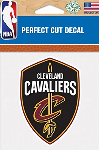 """NBA Cleveland Cavaliers Perfect Cut Color Decal, 4"""" x 4"""""""