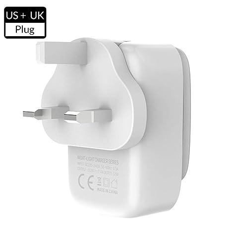 Amazon.com: Fengde Cargador de viaje, 4 enchufes USB ...