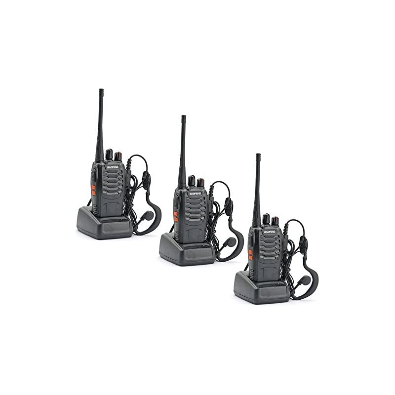 3 Pack Walkie Talkie 16CH Signal Band UH