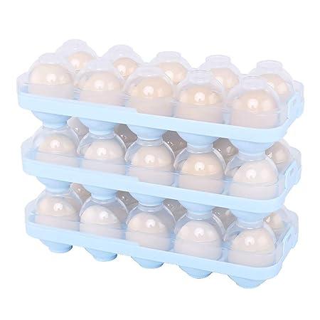 Huevo de almacenamiento caja nevera huevo de conservación, caja de ...