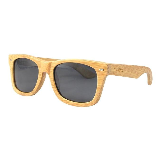 Gafas de Sol de Madera de Bambú - Estilo Wayfarer - 100 ...