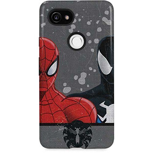 Officially Spider Licensed - Skinit Red and Black Spider-Man Google Pixel 2 XL Pro Case - Officially Licensed Marvel/Disney Phone Case Pro, Scratch Resistant Google Pixel 2 XL Cover