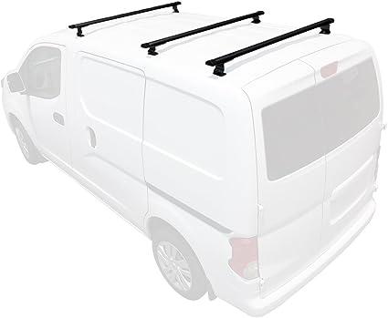 J1000 2 bar para Nissan NV200 escalera techo accesorio de 2013-on, Negro: Amazon.es: Coche y moto