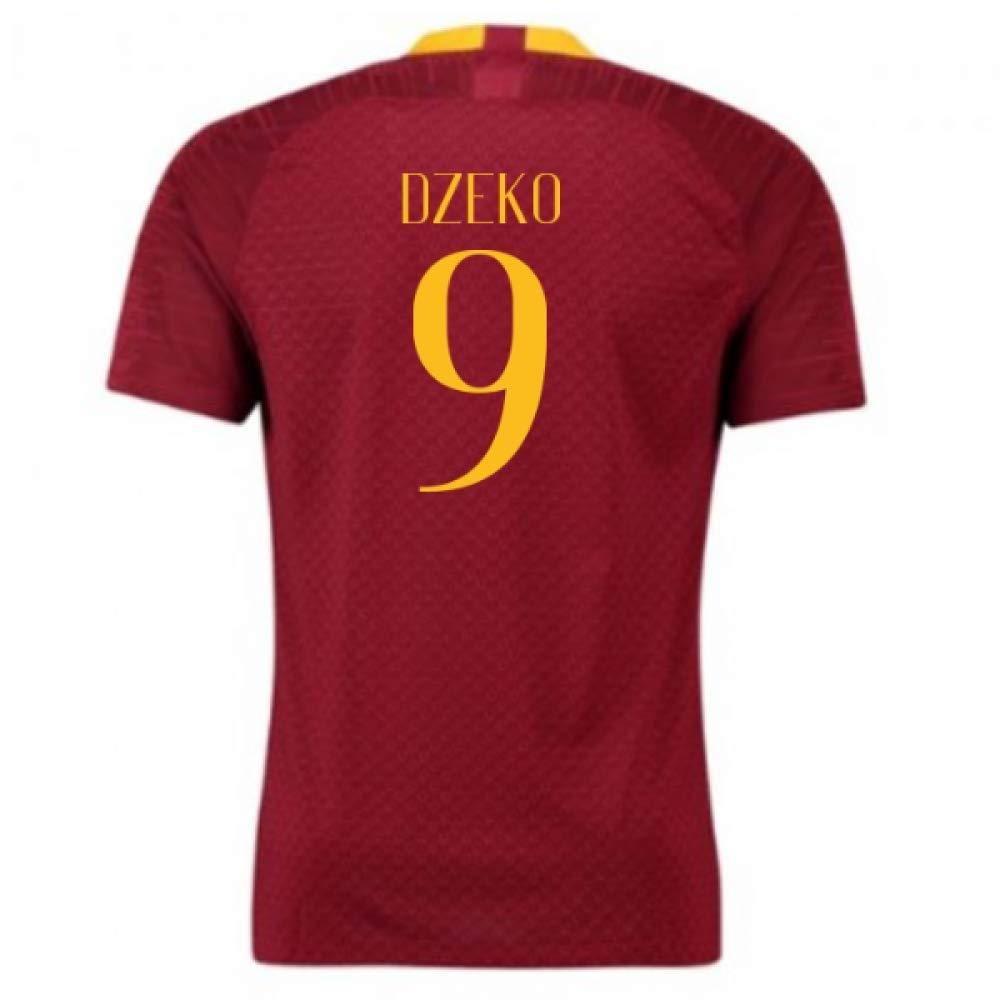 2018-2019 Roma Authentic Vapor Match Home Nike Football Soccer T-Shirt Trikot (Edin Dzeko 9)