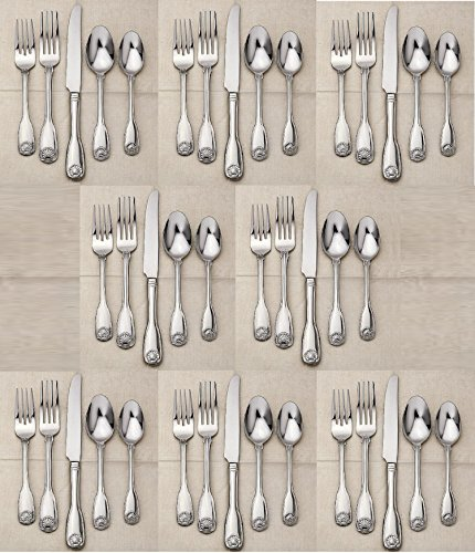 Reed & Barton 18/10 Stainless Colonial Shell II - 40 Piece Set (Service for Eight) -