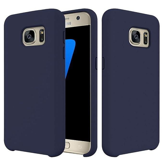 Funda para Galaxy S7 Carcasa Silicona Suave Colores del ...