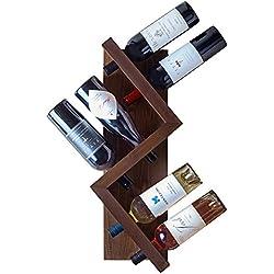 Tandm Pine Wood, 6 Bottle Edison Wall Wine Rack