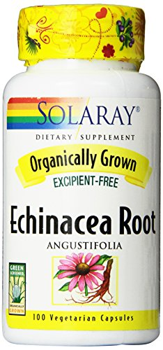 Solaray Organic Echinacea Angustifolia Root Supplement, 450 mg, 100 Count