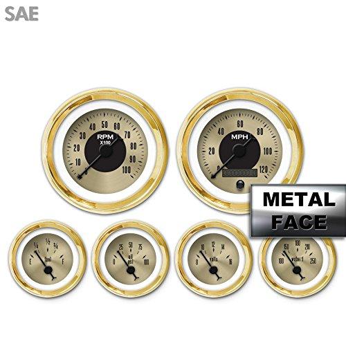 GAR2128ZEXRAABC American Classic Gold VI 6-Piece Gauge Set Aurora Instruments