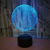 LYXF Basketball 3D Optical Illusion Lamp 7 Colors Change LED Table Desk Lamp for Home Bedroom Decoration
