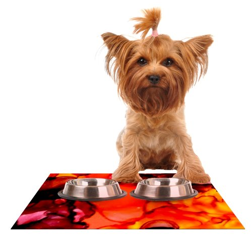 Kess InHouse Claire Day Mordor  Feeding Mat for Pet Bowl, 24 by 15