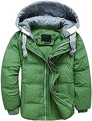 LJYH Boys' Hooded Puffer Jacket Big Boys Winter Down