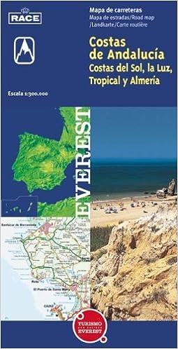 Mapa De Andalucia Costa Del Sol.Mapa Turistico De Las Costas De Andalucia Costa Del Sol