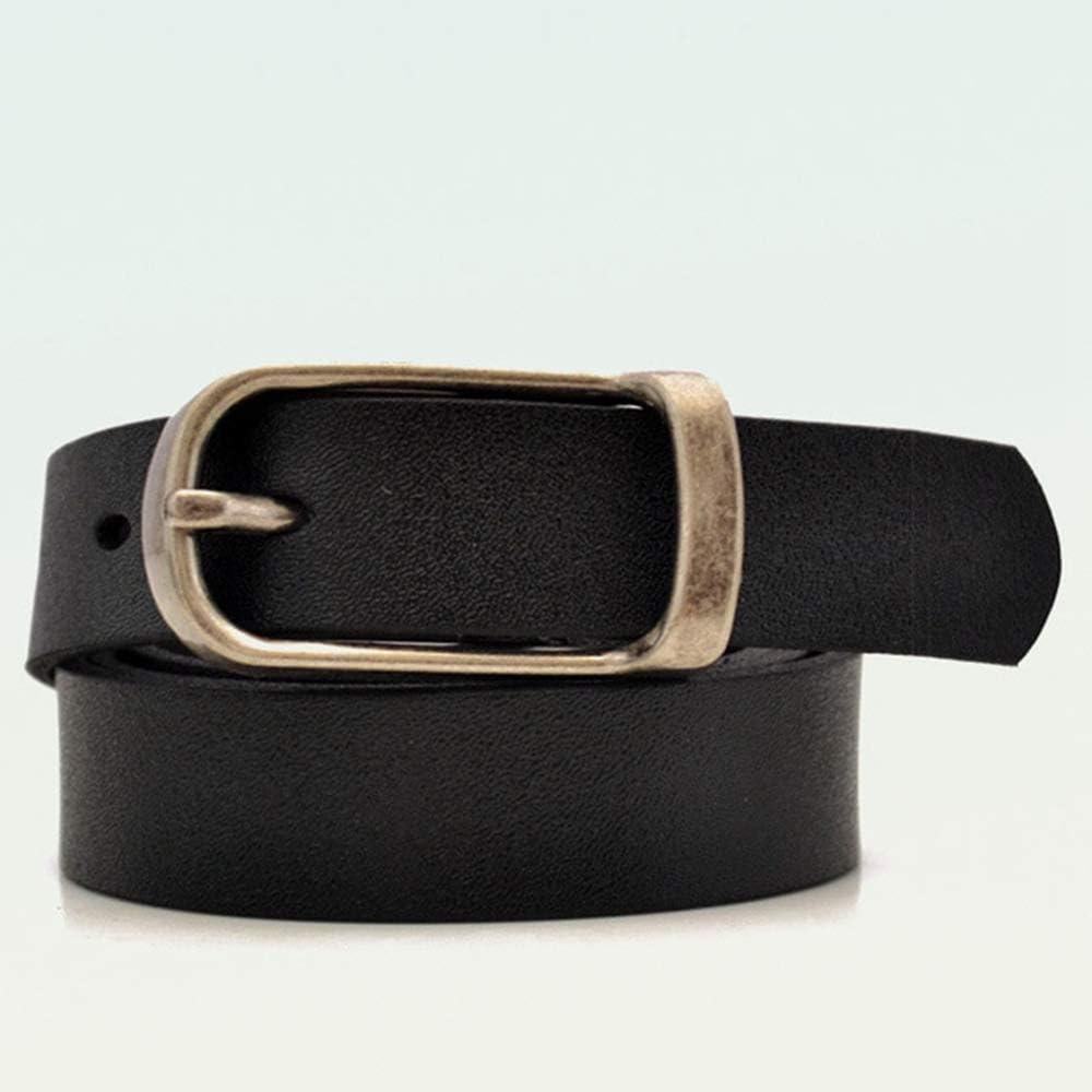 Rosso B HuXwei Cintura da Donna in Similpelle Cintura con Fibbia ad ardiglione in Lega Rerto Cintura Casual Semplice Abito Elegante Cowboy Moda Decorazione Cintura da Donna 110 cm