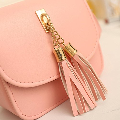 Pink KIMODO Ladies Tassel Women Handbag Purse Bag Tote Large Shoulder Fashion pZ4Cvpwq