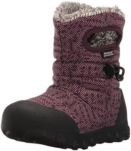 Bogs B-Moc Dash Puff Winter Snow Boot (Toddler/Little Kid/Big Kid),  Plum/Multi, 10 M US Toddler